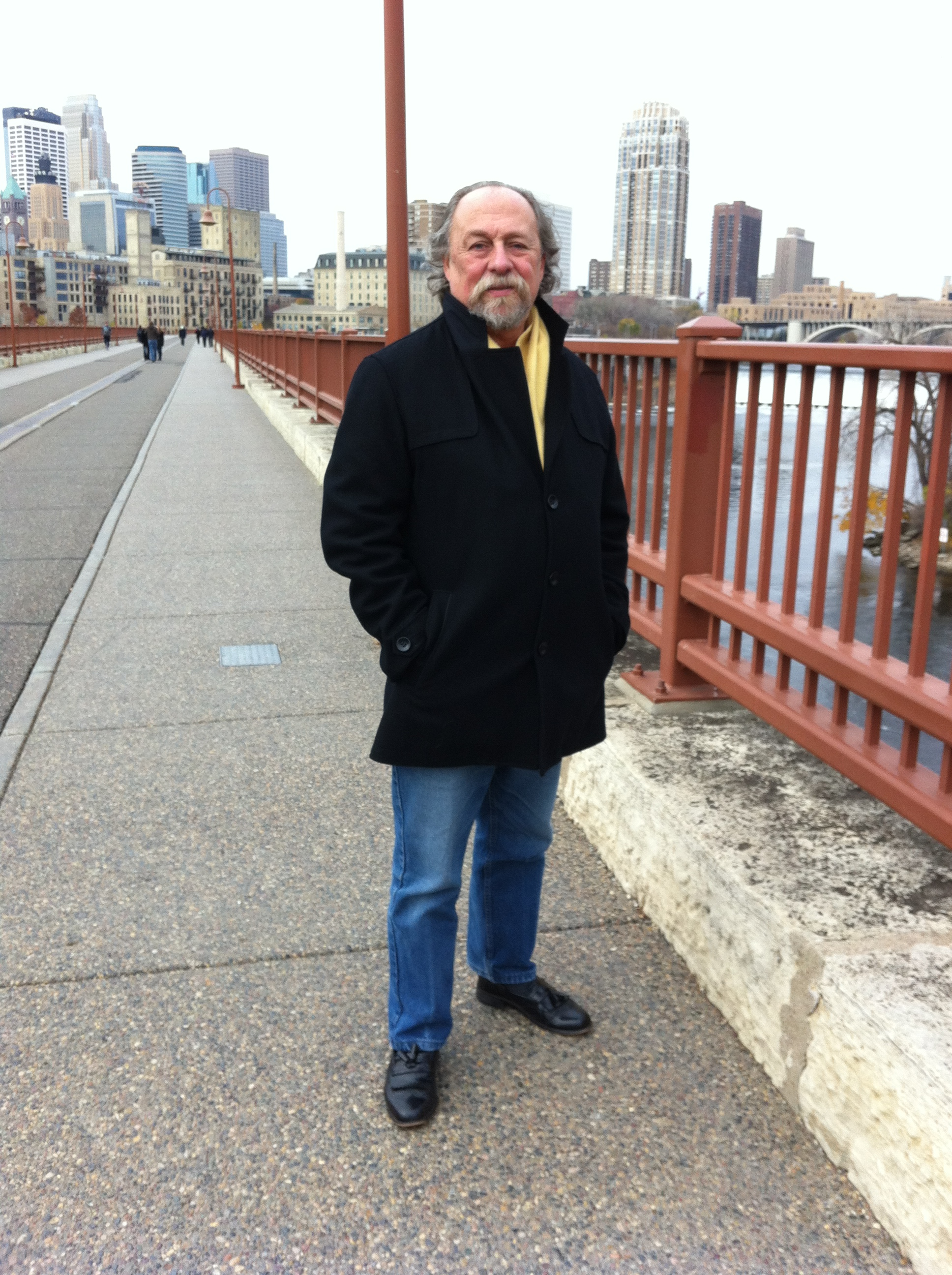 Terrance on the Stone Arch Bridge in Mpls